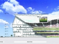 A cut through of the new stadium
