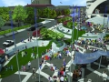 Possible uses of the public square - a street market