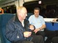 Christer och Jojje på väg till London
