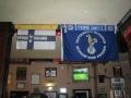 THSS flaggan på hedersplats på Bricklayers