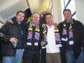 Fyra nöjda THSS-resenärer från Sundsvall
