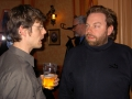 Mathias Bridfelt diskuterar med Jakob Fritzell