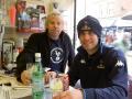 Mathias Bridfelt och Mikael Nilsson på Bar Italia