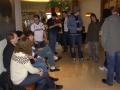 Supportersamling på hotellet före avresa mot White Hart Lane