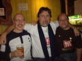 PJ Borg med sina Spursvänner från Barnsley efter matchen mot Wigan.